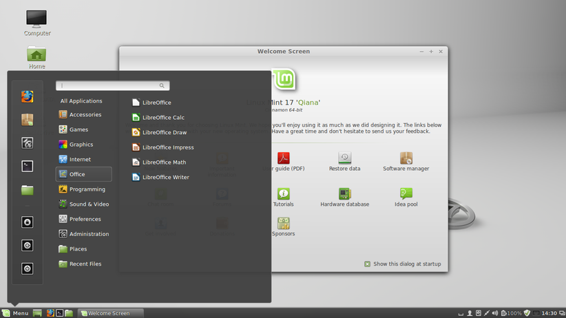 Das Betriebssystem Linux Mint ist Windows sehr ähnlich und spricht daher vor allem Umsteiger an