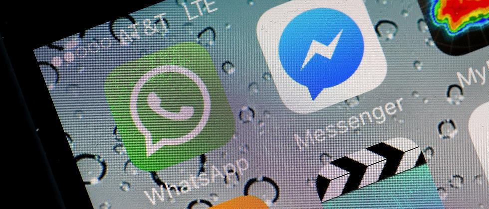 WhatsApp und Facebooks Messenger