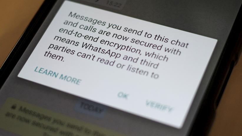Hinweis auf die Verschlüsselung in WhatsApp