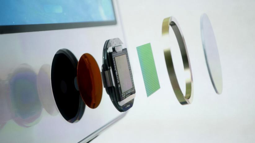 Die Bestandteile des kapazitativen Fingerabdrucksensors im iPhone 5s