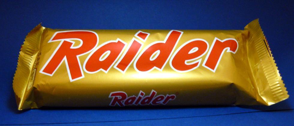 Raider-Schokoriegel
