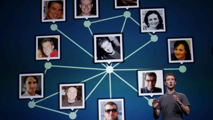 Facebook: Facebook kennt mehr als die Beziehungen zwischen seinen Mitgliedern. © Robert Galbraith/Reuters ()