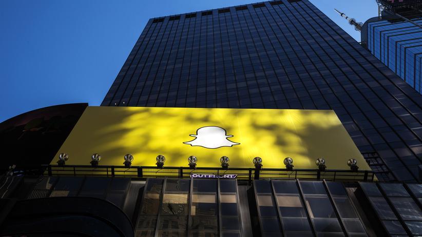Snapchat-Werbeplakat