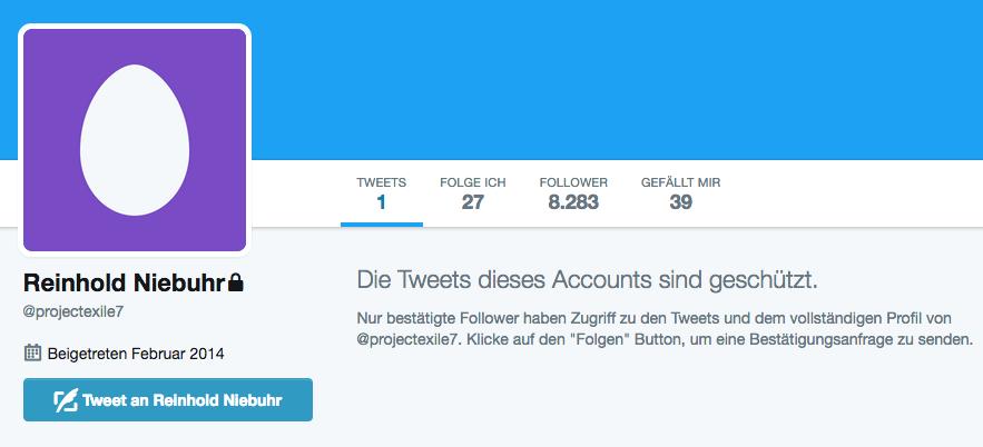 Twitteraccount @projectexile7