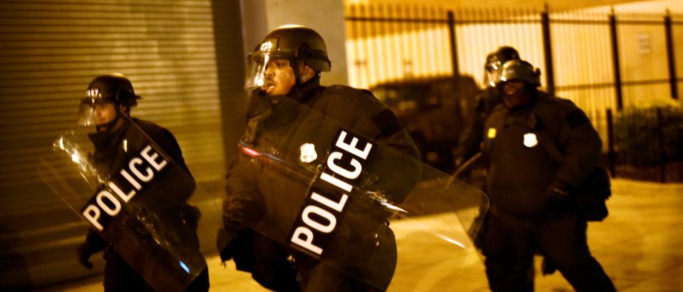Polizeieinsatz am 20. Januar in Washington, D.C.