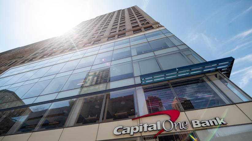 Hackerangriff: Eine Filiale der Capital One in New York City