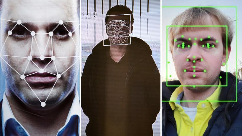 Gesichtserkennung: Erkennungssysteme suchen charakteristische Punkte in Gesichtern. Daraus entstehen einzigartige geometrische Formen, vergleichbar mit Fingerabdrücken.