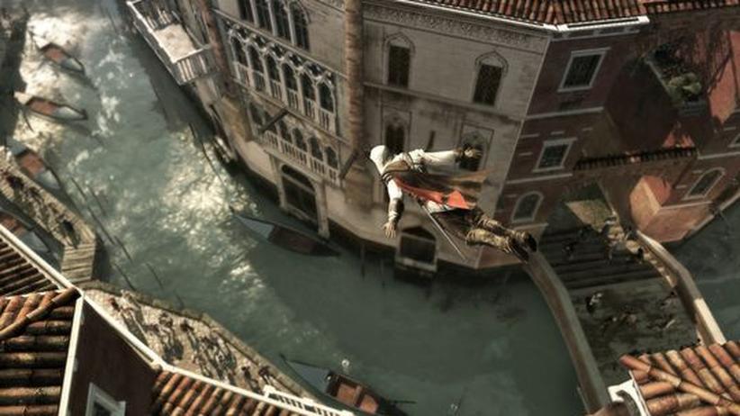 Durch die Luft – Ezio nimmt in Assassins Creed II selten die normalen Wege