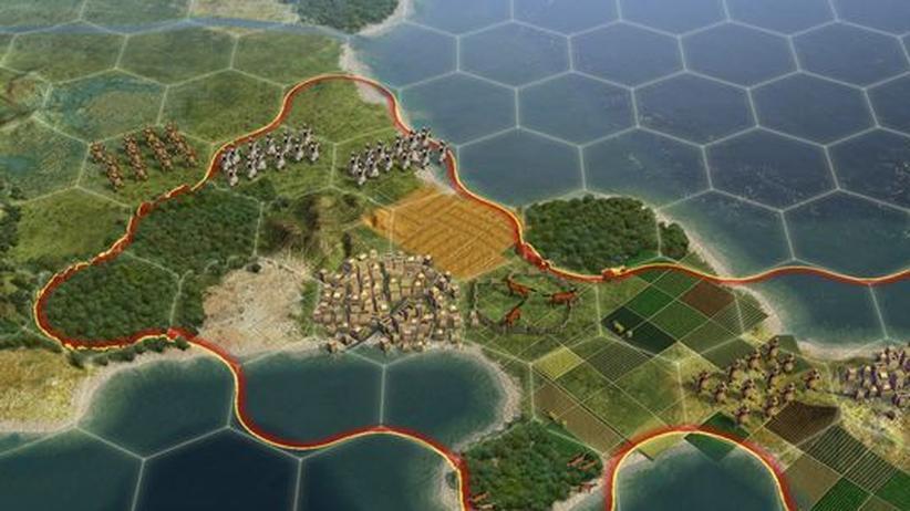 "Ansicht der Landschaft in ""Civiliziation V"""