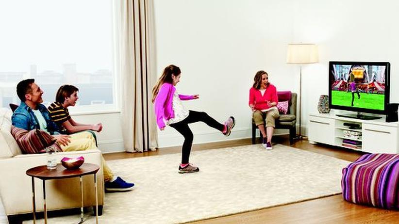 """So stellt sich Microsoft das Familienleben mit einer """"Kinect"""" vor"""