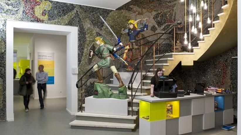 Der Eingangsbereich des Computerspielemuseums in Berlin