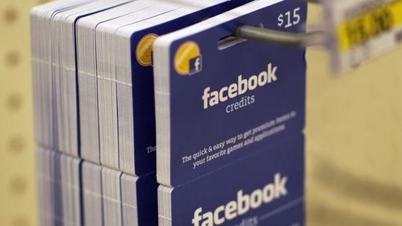 Facebook-Credits, das Facebook-Geld. Mit ihm können sich Nutzer bei Spielen auf der Plattform Funktionen kaufen.
