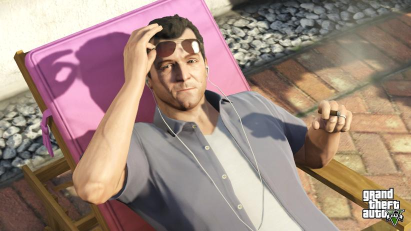 """Michael, eine der drei Hauptfiguren – Screenshot aus dem Spiel """"GTA V"""""""