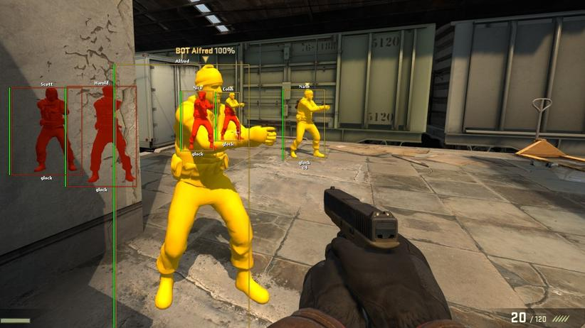 "Ein ""Counter-Strike"" Cheat von Aimware."