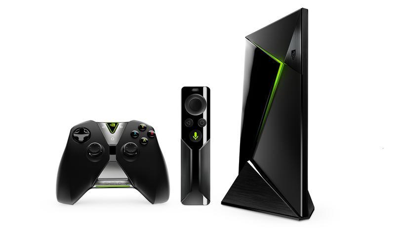 Die Nvidia Shield Spielkonsole – die Fernbedienung kostet extra.