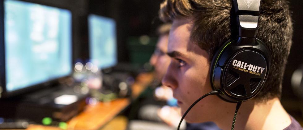 """Ein Spieler während der letztjährigen WM in """"Call of Duty"""""""
