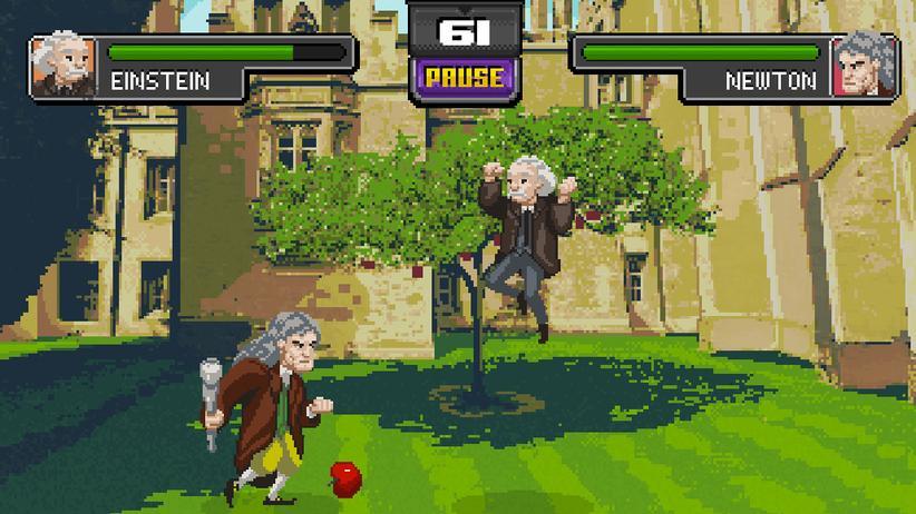 Browserspiel: Einstein gegen Newton, ein Duell mit Apfel