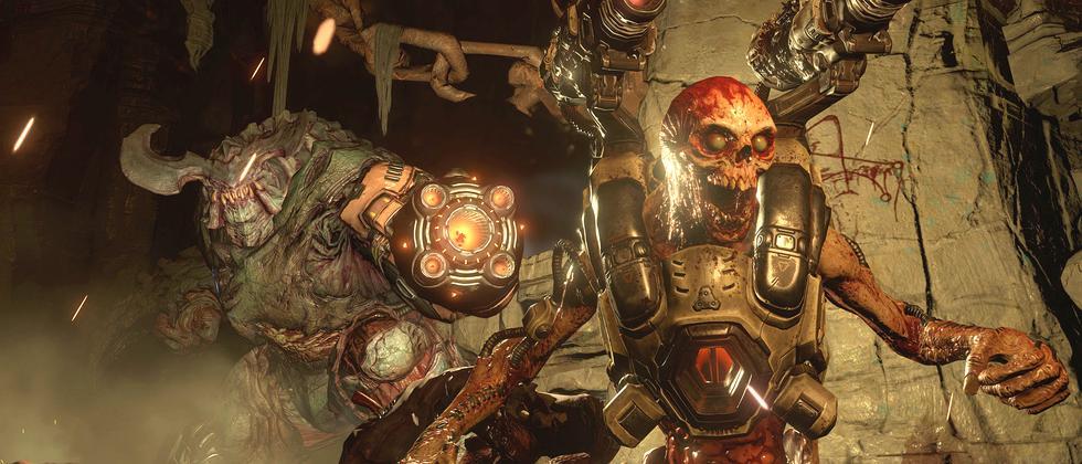 """Schwer bewaffnete Monster und Dämonen gehören in """"Doom"""" dazu."""