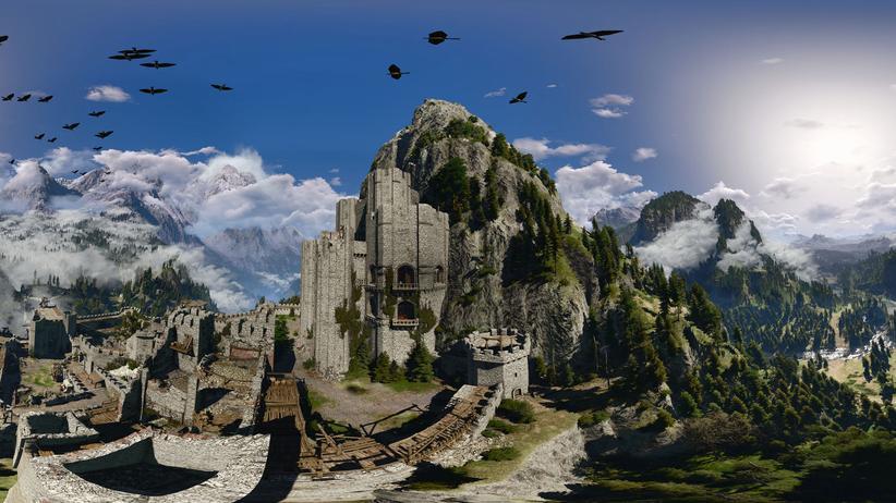 """Eine Burg in """"The Witcher 3"""""""