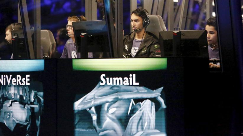 E-Sports: Das Team der Evil Geniuses während The International in Seattle 2015.