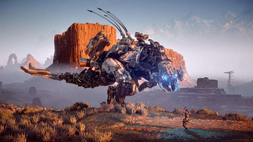 """Horizon: Zero Dawn"": Mechanische Dinosaurier haben die Welt erobert."