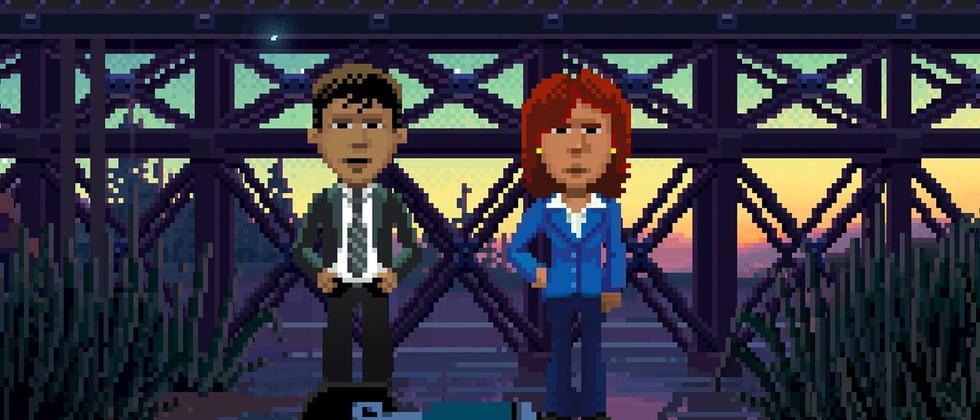 """Ray und Reyes, zwei der Protagonsiten in """"Thimbleweed Park"""""""