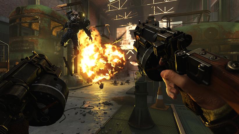 """Kampfszene aus """"Wolfenstein 2"""": Jeder Schuss ist wichtig und richtig, das ist die Grundhaltung"""