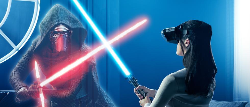 """Nein, so gut wie in diesem Pressefoto sieht """"Jedi Challenges"""" dann doch nicht aus."""