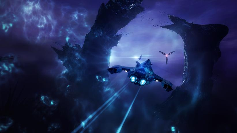 """""""EVE Online"""": Bei dem Computerspiel """"EVE Online"""" können die Nutzerinnen und Nutzer Kämpfe in fernen Galaxien austragen."""
