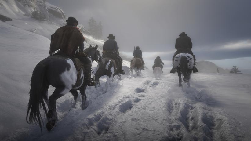 Red Dead Redemption 2: Und sie ritten weiter: die Bande um den Anführer Dutch.