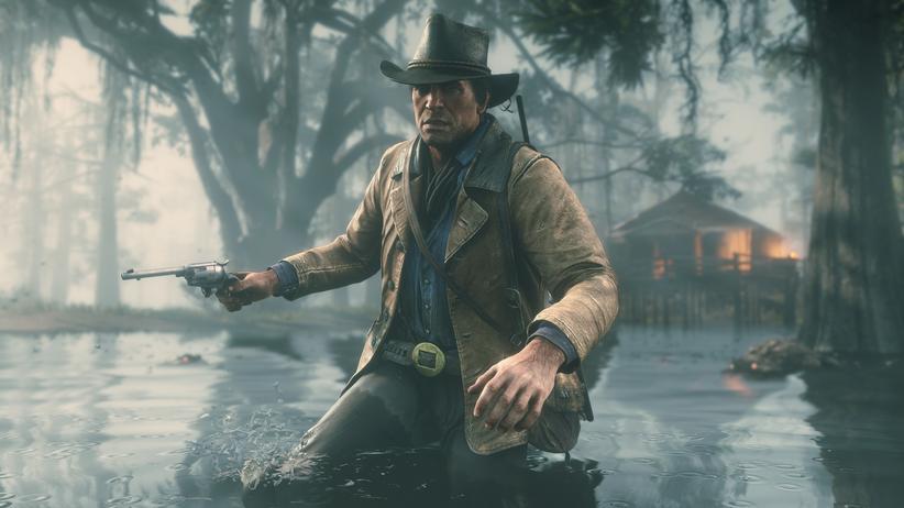 """Red Dead Redemption 2: Watet mal: Arthur Morgan, Protagonist von """"Red Dead Redemption 2"""" und moralische Sumpfgestalt des wilden Westens."""