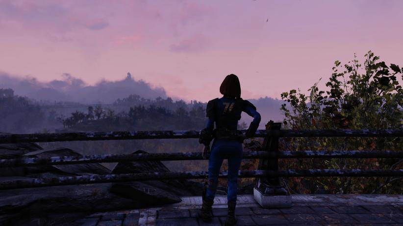 """Survival-Games: In Videospielen wie """"Fallout 76"""" müssen Gamerinnen und Gamer Essen suchen, für Trinken sorgen, ihre körperliche Verfassung beobachten – alles, um zu überleben."""