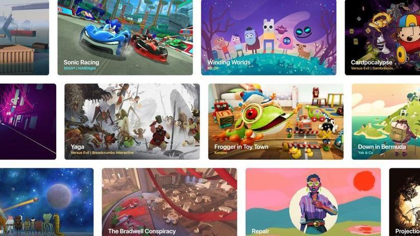 Apple und Google: Apple Arcade bietet mehr als 100 Games im Abo – auf Apple-Geräten.