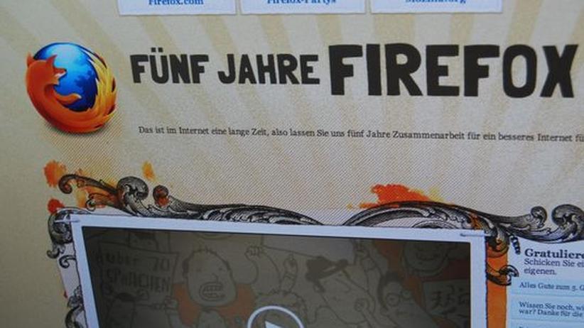Der Firefox ist fünf geworden