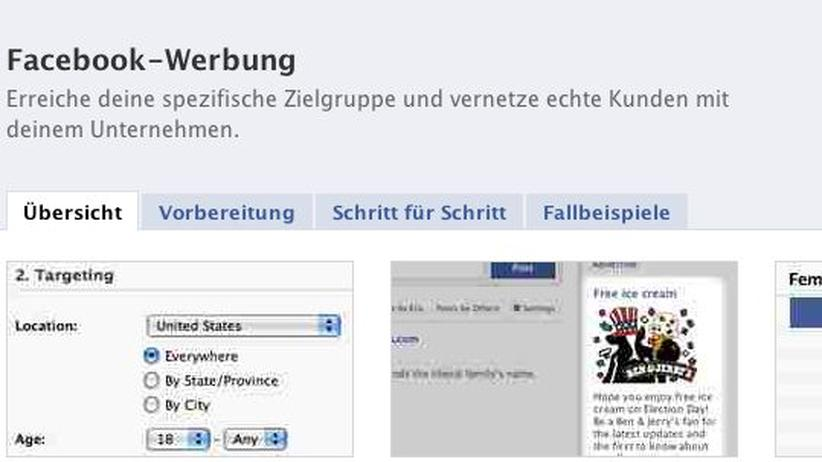 Soziale Netzwerke: Jeder kann auf Facebook versuchen, das Zielpublikum für seine Werbung anzusprechen