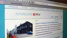 Auf der Streichliste: ORF-Futurezone (Foto der Webseite)