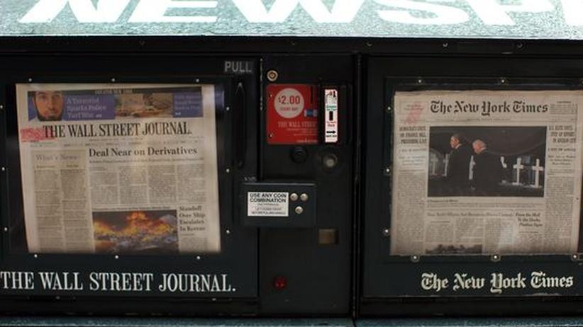 """Online-Journalismus: Wer das """"Wall Street Journal"""" oder die """"New York Times"""" kaufen will, muss Geld einwerfen"""