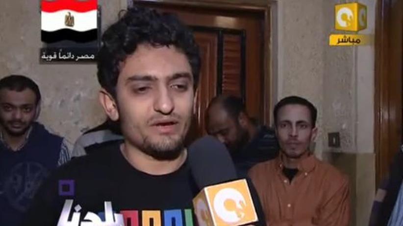 Wael Ghonim gibt nach seiner Freilassung dem ägyptischen Fernsehsender On TV ein Interview