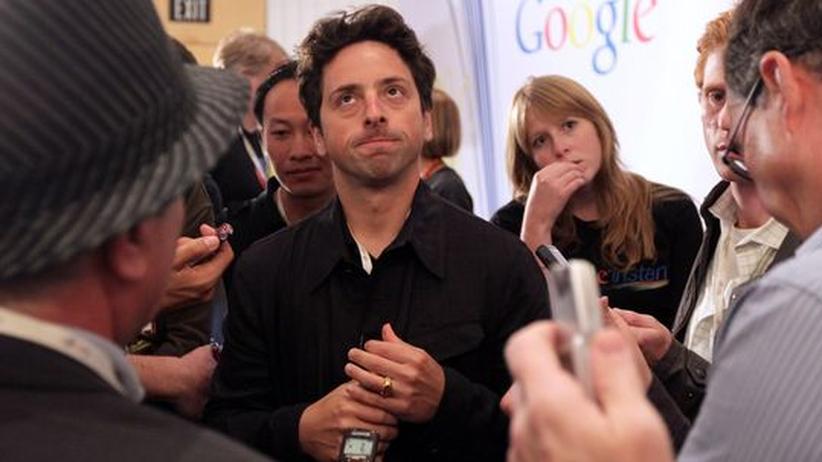 """Suchmaschine: Google Mitgründer Sergey Brin auf einer Pressekonferenz anlässlich der Präsentation von """"Google Instant"""""""