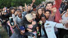 """Eine spontan via Facebook verabredete """"drinks-party"""" im französischen Nantes"""