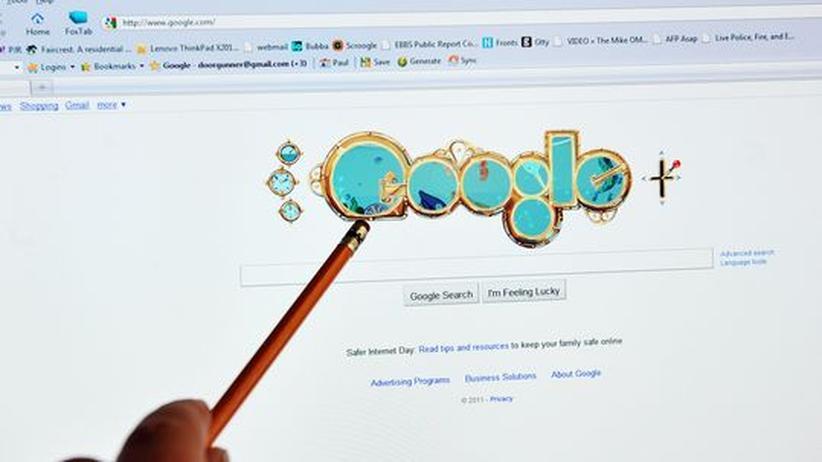 Suchmaschine: Ein Screenshot der Google-Suchmaschine