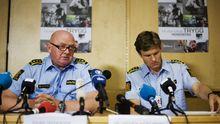 Johan Fredriksen, Chef der Olsoer Polizei, und sein Kollege. 87 Prozent der Norweger haben das Gefühl, die Polizei arbeitete auf ihrer Seite.