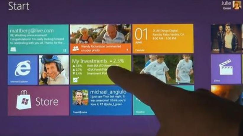 Windows 8: Kacheln statt Schreibtisch