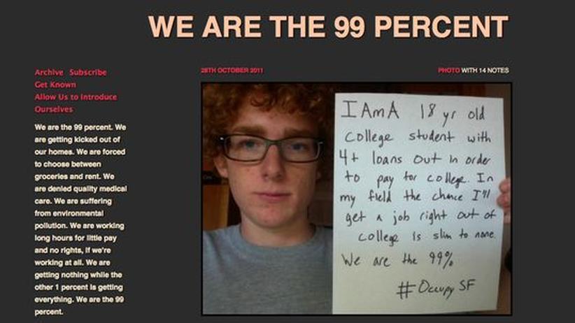 """Occupy Wall Street: """"Wir sind 53 Prozent"""""""