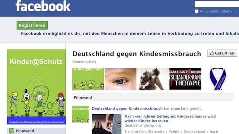 """Rechtsradikale: Rechtsextreme gründen auf Facebook Propagandaseiten wie """"Deutschland gegen Kindesmissbrauch""""."""