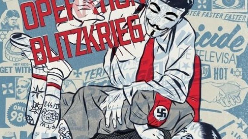 Nazi-Leaks: Screenshot von nazi-leaks.net: Anonymous-Aktivisten attackieren Nazis im Netz.