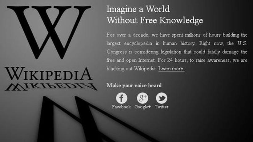 Die englischsprachige Version der Wikipedia wurde für 24 Stunden geschwärzt.