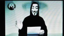 Von Anonymous gekaperte Internetseite des griechischen Justizministeriums