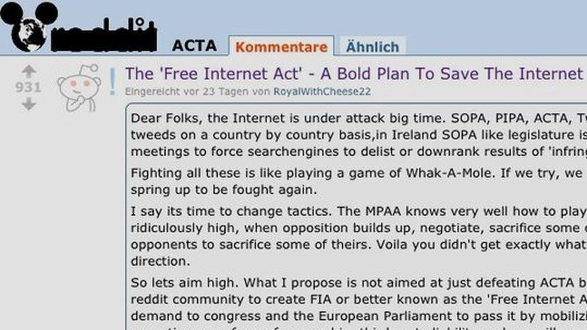 Abkommen: Reddit-Nutzer schreiben ein eigenes Internetgesetz