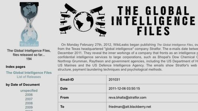 Stratfor: WikiLeaks veröffentlicht E-Mails von US-Analysedienst